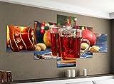 Acrylglasbilder 5 Teilig 200x100cm Weihnachten Tee Tasse Winter Fest Druck Acrylbild Acryl Acrylglas Bilder Bild 14F550, Acrylgröße 11:Gesamtgröße 200cmx100cm
