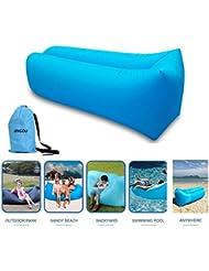 Chaise longue gonflable Canapé avec sac de transport Hamac Air Canapé lit gonflable PISCINE flotteur pour intérieur/extérieur randonnée Camping, plage, parc, jardin étanche durable