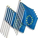 MC-Trend® Europe Drapeau Europe Europe Europe Union Union Européenne Broche en métal, 14 x 21 cm 12 Stück...