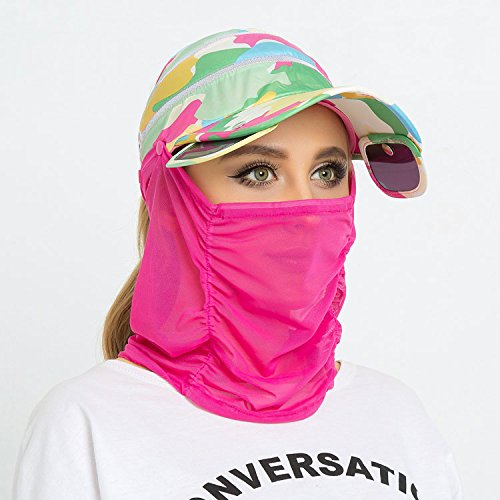 ZHANGYONG*Visiera donna summer sun cappelli cappuccio di protezione solare spiaggia cap può essere piegato per esterno nero faccia escursioni in bicicletta beach , maschio cappelli sono codice , camouflage
