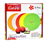 #8: calvy full plate round Dishwasher safe Microwave safe plastic white for all occcassion