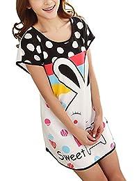 Cartoon nuisette pyjama court pour femme à pois bras schlafkleidung