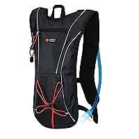 Rulyt Unisex-Youth BA-BATOH-0001 Hydration Backpack, Capacity-1.5 Liter, Black, One Size