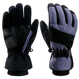 boildeg Skihandschuhe,Herren Ski Snowboard Handschuhe Wasserdicht Warm Winterhandschuhe Winddicht