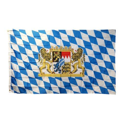 cm Fanflagge mit Ösen Flagge Blau-Weiß mit Wappen (Blaue Flagge Mit Weißem X)