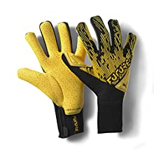 PUMA Unisex Adults' FUTURE Grip 5.1 Hybrid Goalkeeper Gloves, Ultra Yellow Black White, 9.5
