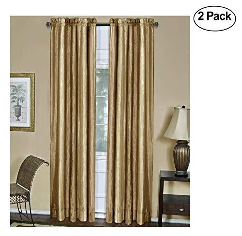 Achim Home Furnishings Ombre Fenster Panel (Set von 2) 84-inch Sandstein -