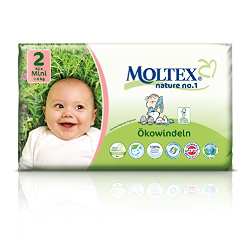 MOLTEX Nature no.1, Größe 2, 2-6kg, Ökowindel Mini, 42 Stück