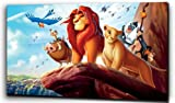 "Plush Prints Disney Lion King Simba - Canvas Print - Dominant Colour: As Shown In Picture - Canvas Size: 12"" X16"""