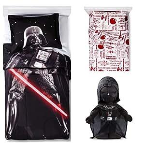 Disney-Star Wars Darth Vader 2 lumières-Doudou lit double feuilles & Dark Vador oreiller