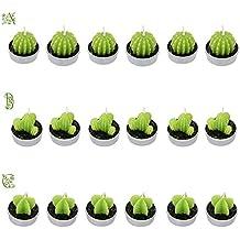 Anself - Velas Forma de Cactus 6Pcs Para la Decoración del Hogar Accesorios de Cumpleaños Fiestas Boda Ceremonias Celebraciones