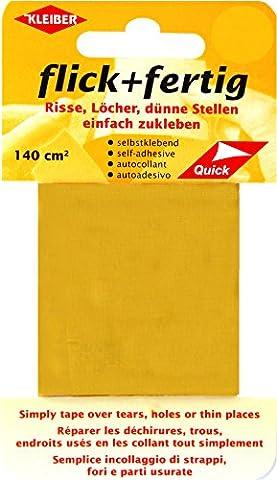 Kleiber 43087 Flick + fertig Selbstklebender Nylon Ausbesserungsflicken, 100% Polyamid, gelb, 25 x 6 x 0,02 cm