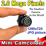 Ryrty(TM) New Y2000 Kleinste Cmos Super-Mini-Videokamera Ultra Small Pocket-720 * 480 DV DVR Recorder Web Cam 720P JPG Po