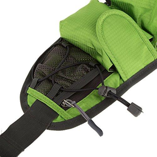 Sporttaillengürtel Laufen Fahrrad Radfahren Wasserflasche Bag Pack Bum Tasche Bauchtasche Gürteltasche Gruen