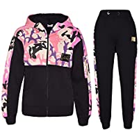 A2Z 4 Kids® Kids Girls Tracksuit A2Z Badged Camouflage Hooded Top Bottom - T.S Camo 603 Baby Pink_5-6