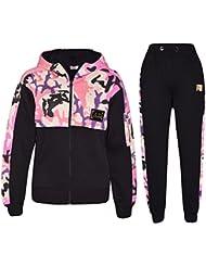 96477d58af6 A2Z 4 Kids® Enfants Garçons Filles Survêtement Designer Rosé Bébé A2Z Badgé  Camouflage Contraste Panneau