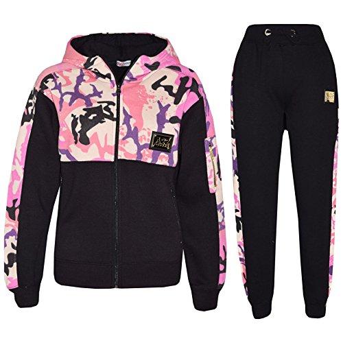 A2Z 4 Kids® Enfants Garçons Filles Survêtement Designer Rosé Bébé A2Z Badgé - T.S Camo 603 Baby Pink_11-12