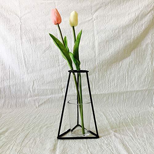 Dekoartikel Neue nordische minimalistische abstrakte Vase aus schwarzem Eisen kurze Vase...
