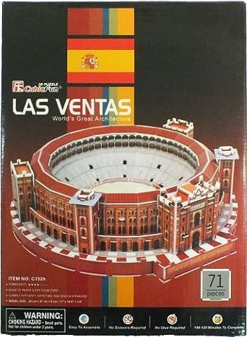 Cubic Fun - 3D Puzzle Plaza de Toros Stierkampfarena Las Ventas Madrid Spanien Mittel