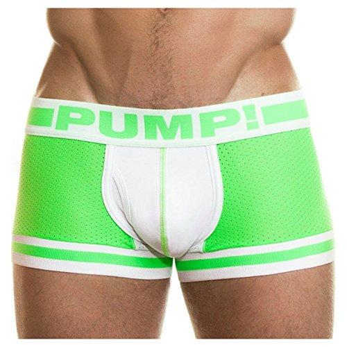 Pump! Herren Boxershort Gr. xl, Grün - Lime / White