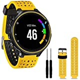 Tabcover for Garmin Forerunner 220 230 235 620 630 Watch Armband,Soft Silicone Replacement Watch Armband for Garmin Forerunner 220 230 235 620 630 Smart Watch