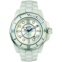 Zzero Ceramic Watch Quartz zc2101b Ceramic Quandrante White Ceramic Strap