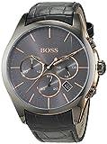 Hugo BOSS Homme Chronographe Quartz Montres bracelet avec bracelet en Cuir - 1513366