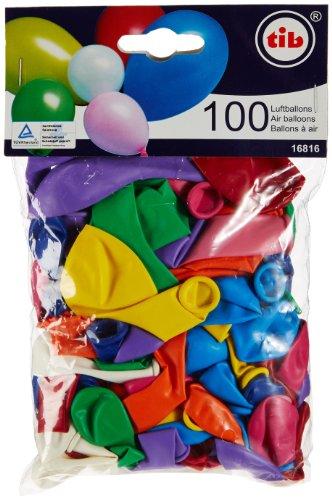 TIB 16816 - Luftballons gem. Farben und Größen, bunt 100 Stück (Luftballons Stück 100)