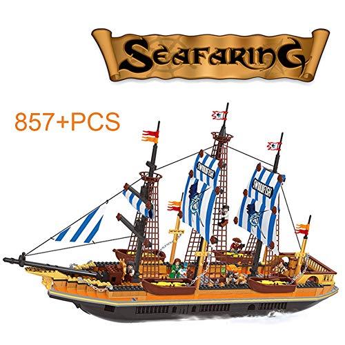 HLDX 857 + pcs große fischerboot segeln bausteine   Spielzeug baustein Kinder Puzzle Montage DIY kreative Pirate Serie bausteine