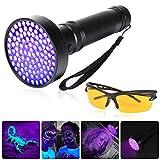 GreenSun LED Lighting Lampe de poche UV UV Noir 395 nm avec lunettes de protection UV...