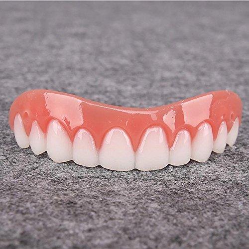 5pcs Instant Smile Teeth Upper Veneers Dents cosmétiques Sourire instantané Silicone Dents simulées Placages supérieurs