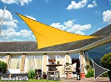 Kookaburra Gewebtes Sonnensegel (Wasserfest) Dreieck, Gelb, 3,6m x 3,6m x 3,6m