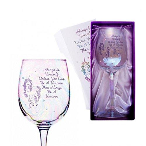 Einhorn Weinglas mit Geschenkverpackung - Rotweinglas Weißweinglas