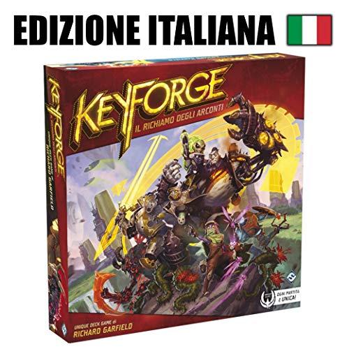 Asmodee Italia keyforge, EL reclamo de los arconti-Starter Set Juego de Mesa, Color Rojo, 10600