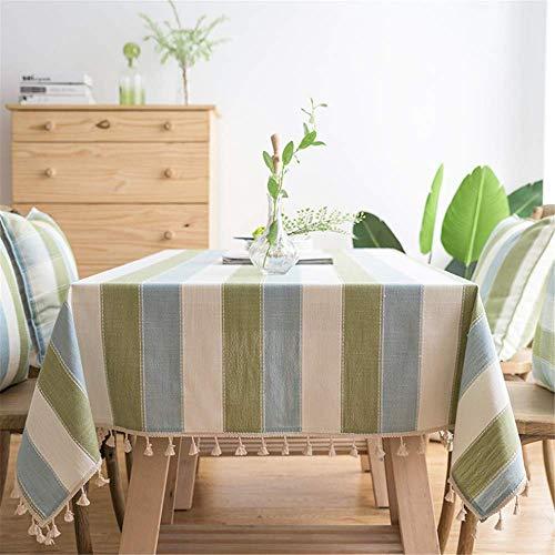 Rot Rustikal Esstisch (SONGHJ Streifen Wasserdicht Küche Tisch Tuch Tischdecke Rechteckige Tischdecken Esstisch Abdeckung B 140x240cm)