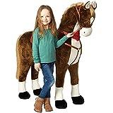 Pink Papaya enorme caballo XXL   casi tan grande como un caballo real es la mejor alternativa al ya común caballo balancín   con distintos efectos de sonido: canción de Cowboy, galopeaje y relincho   Altura hasta la cabeza aprox. 125 cm   altura hasta los hombros aprox. 90 cm  