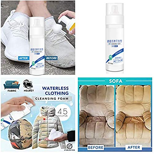 Ohwens Stain Cleaner for Shoes, Stain Remover, Multipurpose Waterless Bubble Cleaner Garment Dry Wash Spray Refresher Tool 150ml -