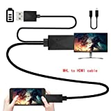 Efanr universal Micro USB MHL zu HDMI Adapter, HDTV 195 cm Kabel 11 pin für Samsung Galaxy S2, S3, S4, S5, Note, 2, 3, 4, 8, Note Edge, HTC, M8, HTC, ONE, LG, Sony, Android. 1080p Handy-Kabel-Konverter.