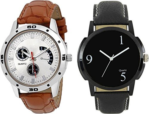 Crispy™ Analog Multicolor Dial For Men's Watch (Pack of 2)