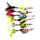 Best Fishing Spoons - Rrimin 6pcs Spoon Metal Fishing Lures Set Spinner Review