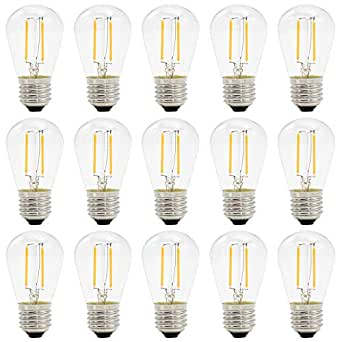 E27 Chaud 2w S14 Ampoules 2700k Filament Mbo Led Edison Blanc vym0ON8nw