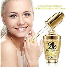 Colágeno de oro de 24 quilates, ácido hialurónico y vitaminas A E D Gel Potente antiarrugas cara facial cuello y cuerpo crema reduce las arrugas, bolsas, ...
