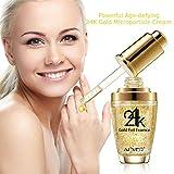 Premium 24K Gold Collagen, Hyaluronsäure und Vitaminen A E D Gel Anti Aging Falten Gesicht Facial...