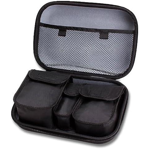 USA Gear Funda protectora para cámaras compactas Easypix W1024 Splash Aquapix Panasonic DMC TZ70EG Sony DSC W810 Fujifilm X30 Canon SX 6 710 HS / Sony DSC-W830 / Canon Ixus / Cyber Shot y muchas más