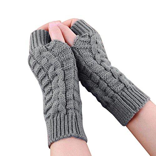 ter Damen Herren gestrickte Arm fingerlose Handschuhe Unisex weiche warme Handschuh von Dragon868 (Grau) (20er Jahre Mode Herren)