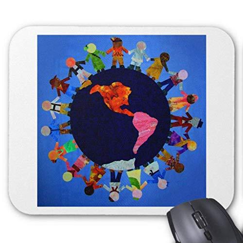Peaceful Children Around The World Mousepad Lsu Laser