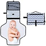 Rovtop Portable Diaper Changing Pad,Foldable Travel Changing Station Folding Diaper Clutch Waterproof Baby Diaper Changing Pad Kit Travel Home Changing Pad for Toddlers Infants and Newborns