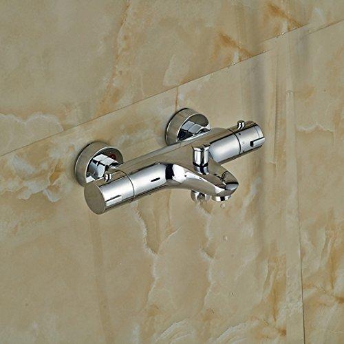 Luxurious shower Billiger Bad Dusche Mixer Wasserhahn Dual Griff thermostatische Dusche Handbrause Armaturen mit Halterung, nur Mixer Ventil B (Valve Abzieher)