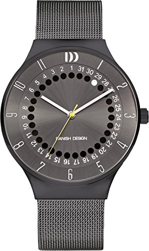 Danish Design Men's Quartz Watch with Grey Dial Analogue Display and Multicolour Stainless Steel Strap DZ120586
