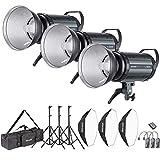 Neewer 900W Studio Blitzblitz Fotografie Studioset: (3) 300W Monolicht, (3) Reflektor Diffusor, (3) Softbox, (3) Lichtständer, (1) RT-16 Drahtloser Auslöser, (1) Tasche für Aufnahme, Bowens Montage (S-300N)